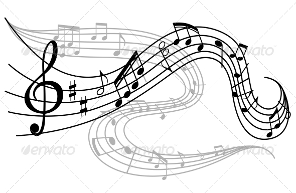 Waves of Musical Notes - Miscellaneous Vectors