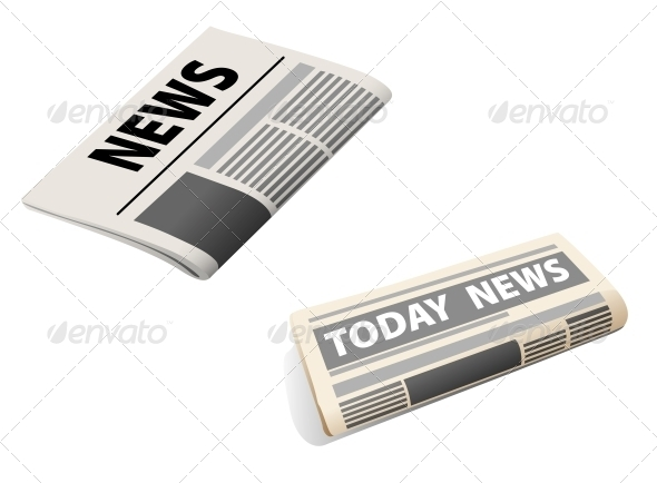Two Newspaper Icons - Media Technology