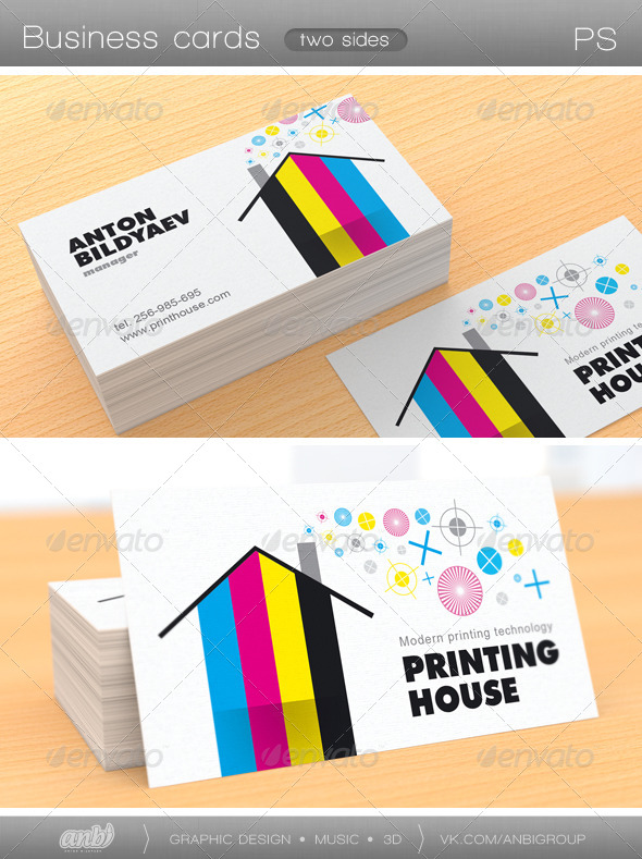 Printing house business card by antonbildyaev graphicriver printing house business card colourmoves