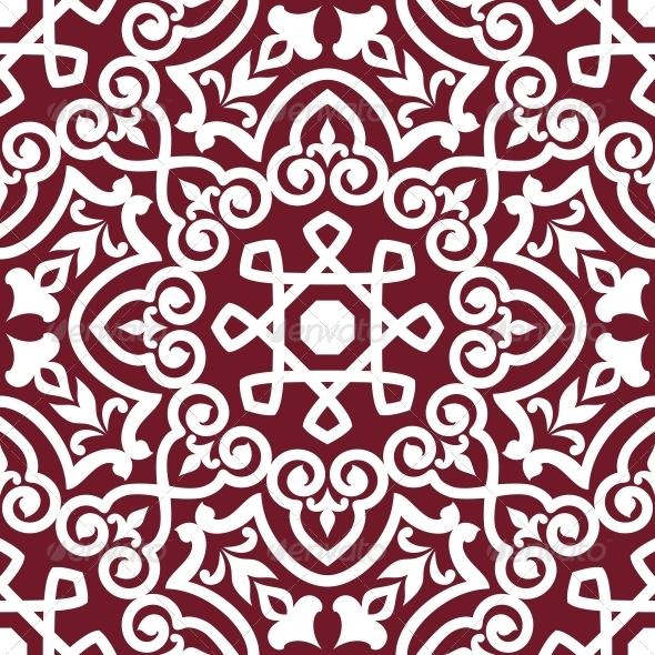 Abstract Arabic or Persian Seamless Ornament - Backgrounds Decorative