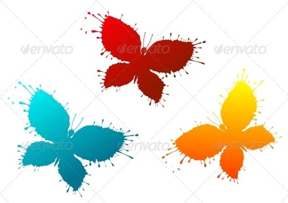 Butterflies as Colorful Blots - Miscellaneous Vectors