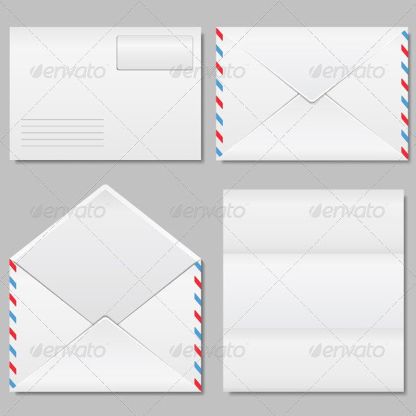 Envelope and Paper - Objects Vectors