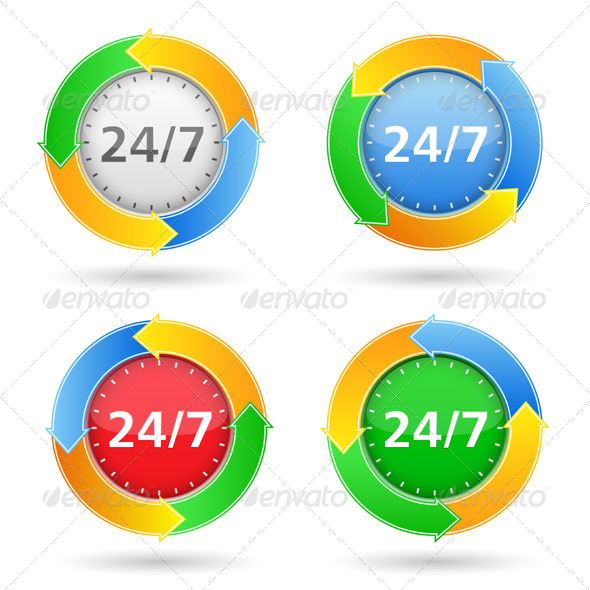 24/7 Badge - Services Commercial / Shopping
