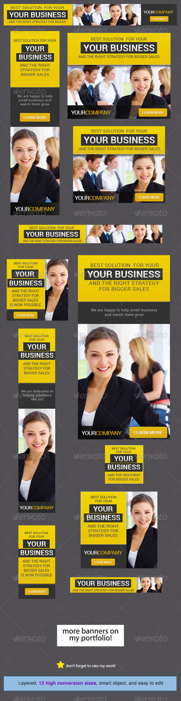 Corporate Banner Design Template 7 - Banners & Ads Web Elements