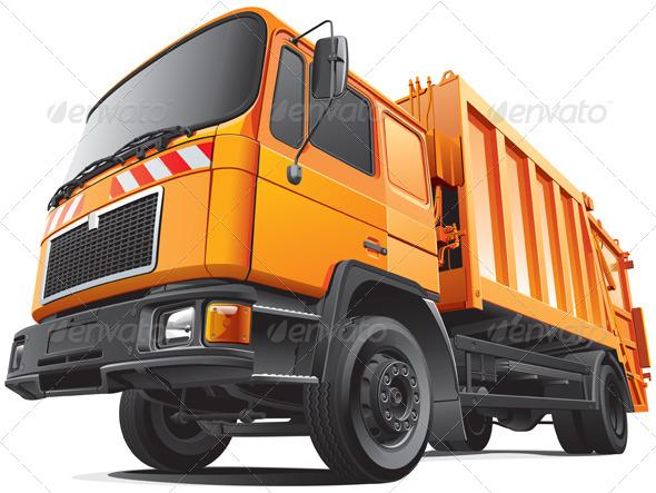 Compact Garbage Truck - Vectors