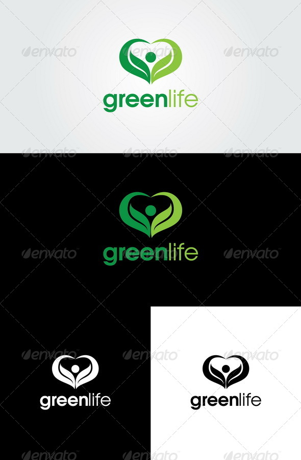 Green Life Logo Template - Nature Logo Templates