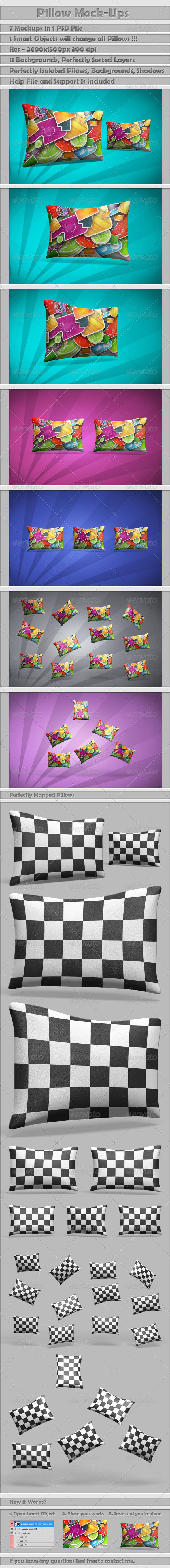 Pillow Mock-Ups - Miscellaneous Product Mock-Ups