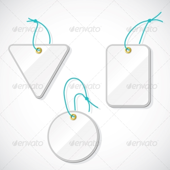 Set of Plastic Tags on the Rope. - Retail Commercial / Shopping