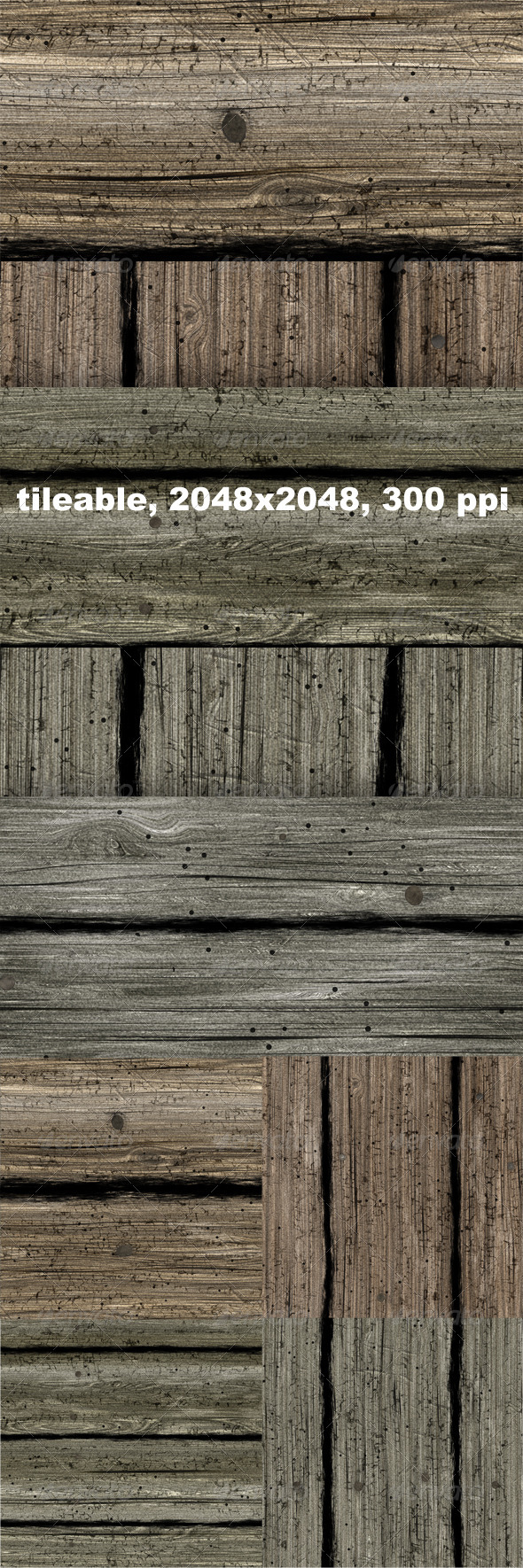 5 Old Planks - Wood Textures