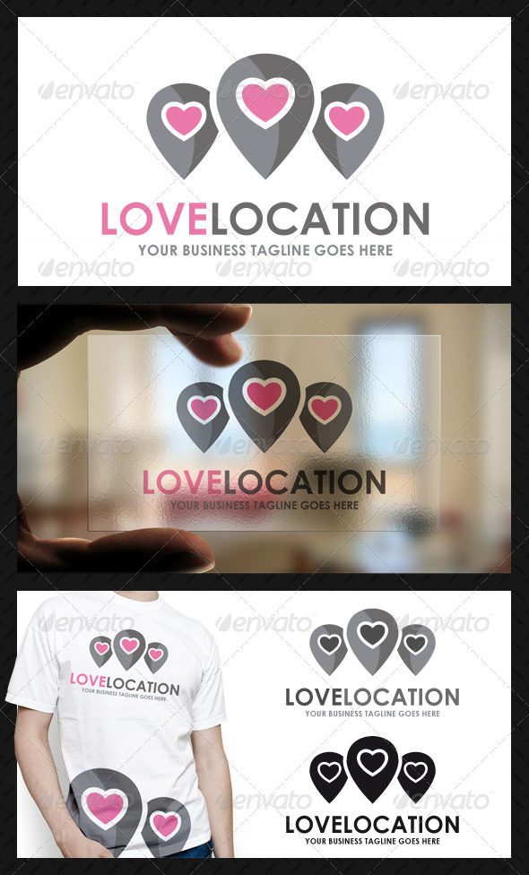 Love Locator Logo Template - Objects Logo Templates