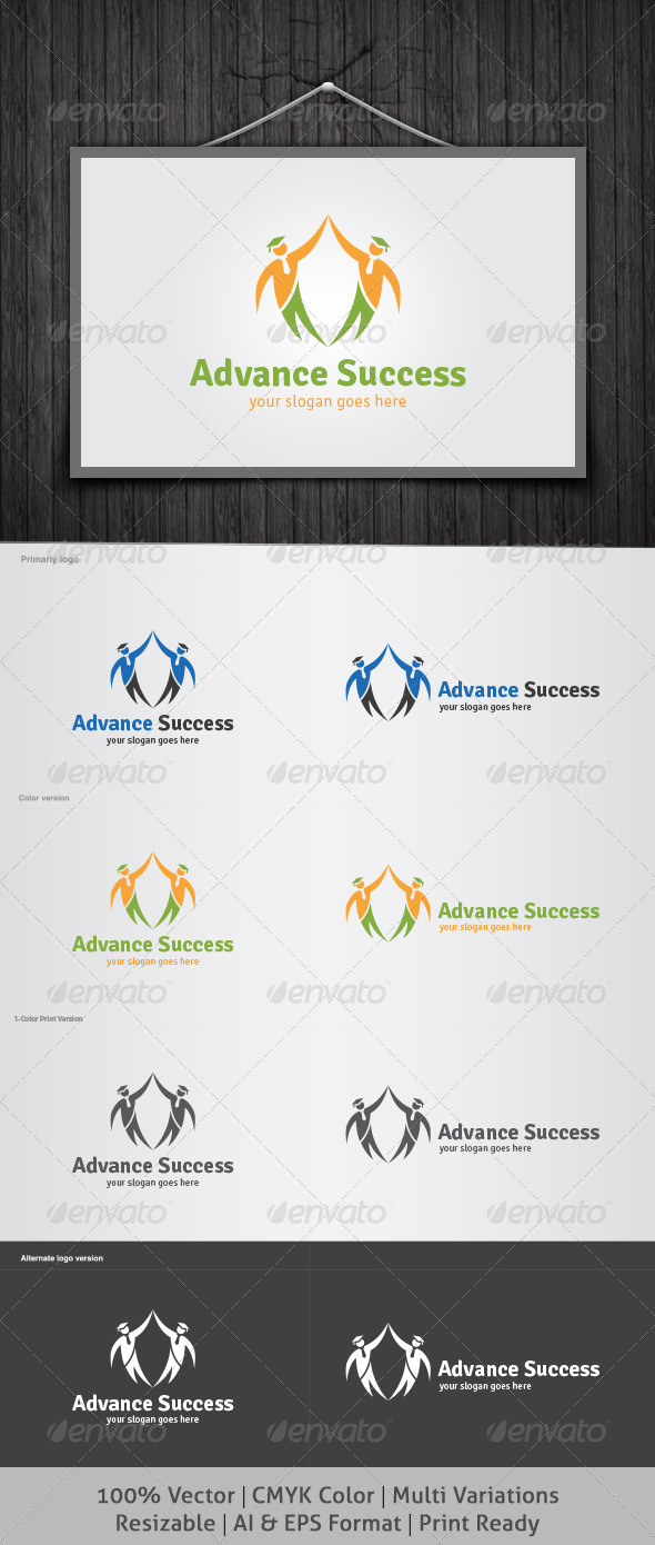 Advance Success Logo - Objects Logo Templates