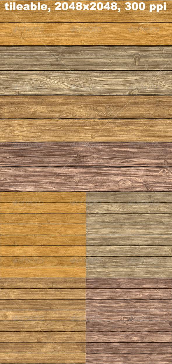 4 Woodplank Textures - Textures