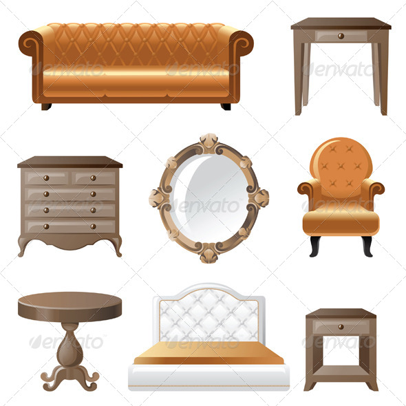Home Furniture - Man-made Objects Objects