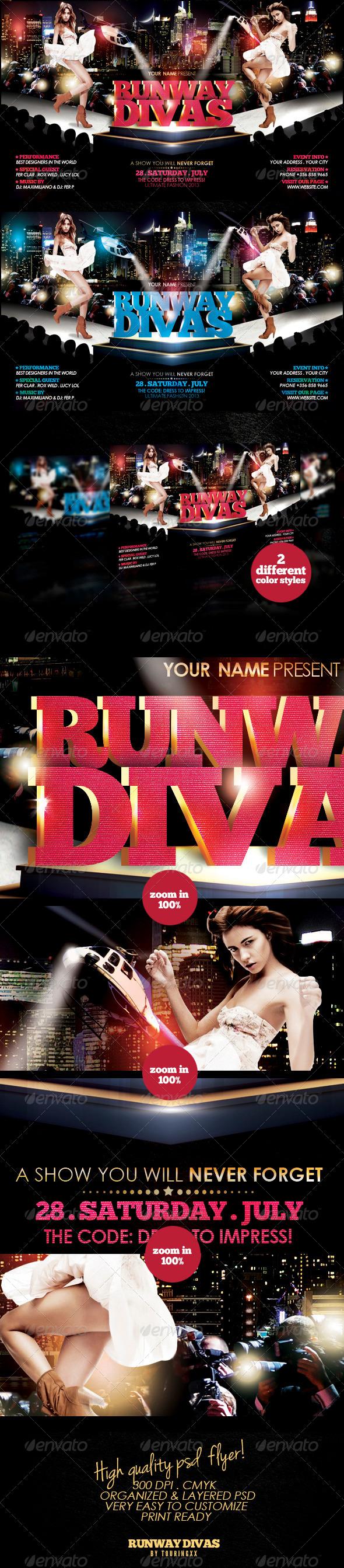 Runway Divas Flyer Template - Events Flyers
