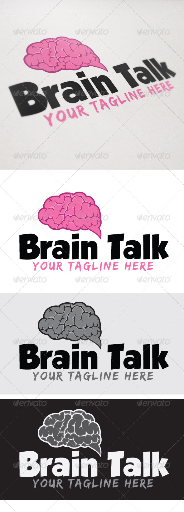 Brain talk - Symbols Logo Templates