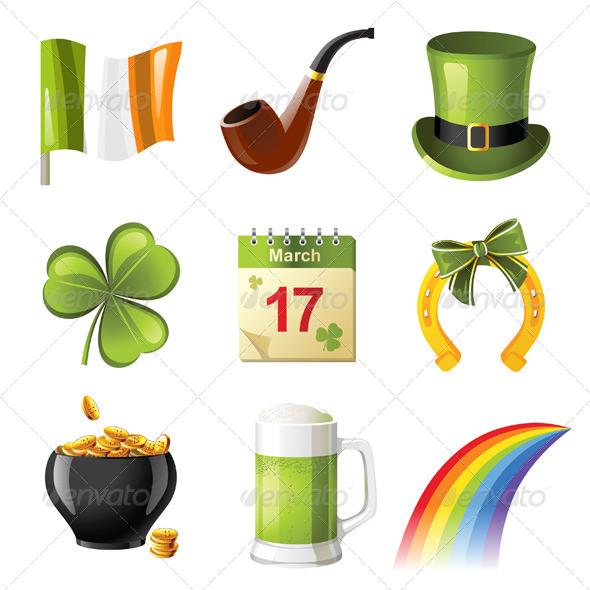 St. Patrick's Day Icons - Seasons/Holidays Conceptual