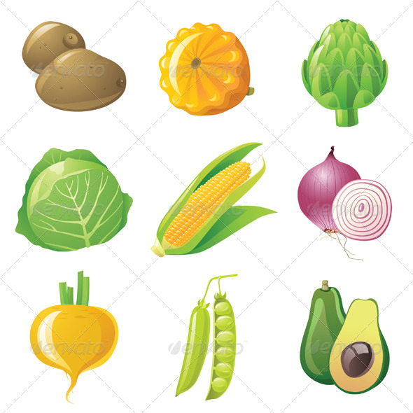 Vegetables Set - Food Objects