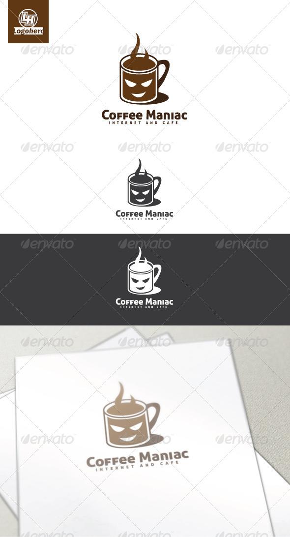 Coffee Maniac Logo Template - Food Logo Templates