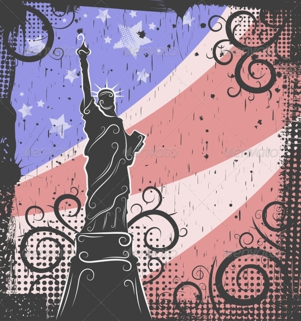 Statue of Liberty Background - Buildings Objects