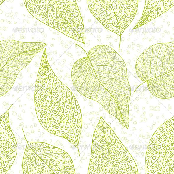 Green Leaf - Patterns Decorative