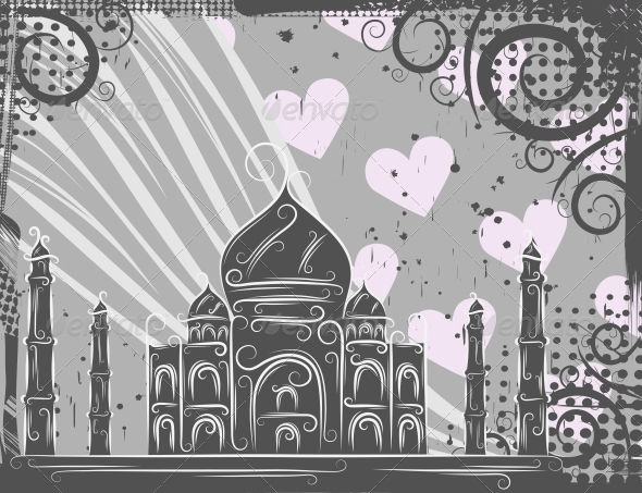 Taj Mahal Background - Buildings Objects