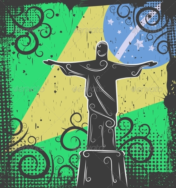 Statue of Christ the Redeemer Background - Buildings Objects