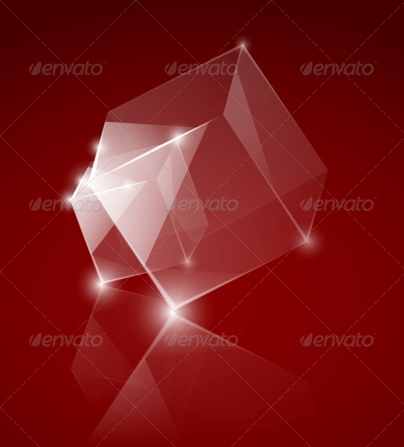 Glass Cube - Abstract Conceptual