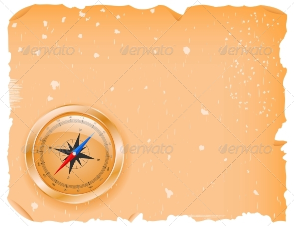 Compass with a Paper - Travel Conceptual
