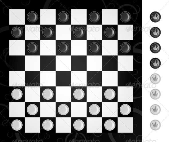 Checkers - Sports/Activity Conceptual