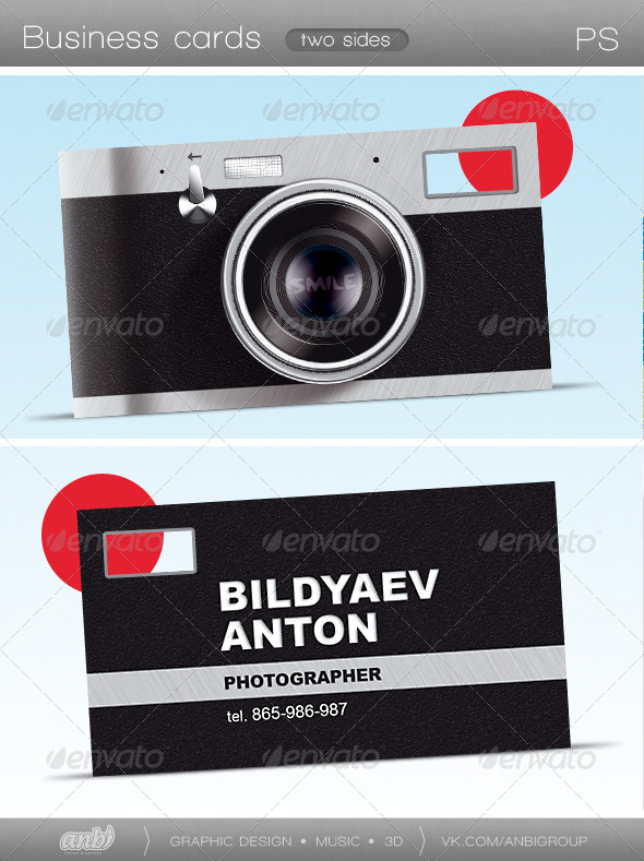 Photographer - Real Objects Business Cards