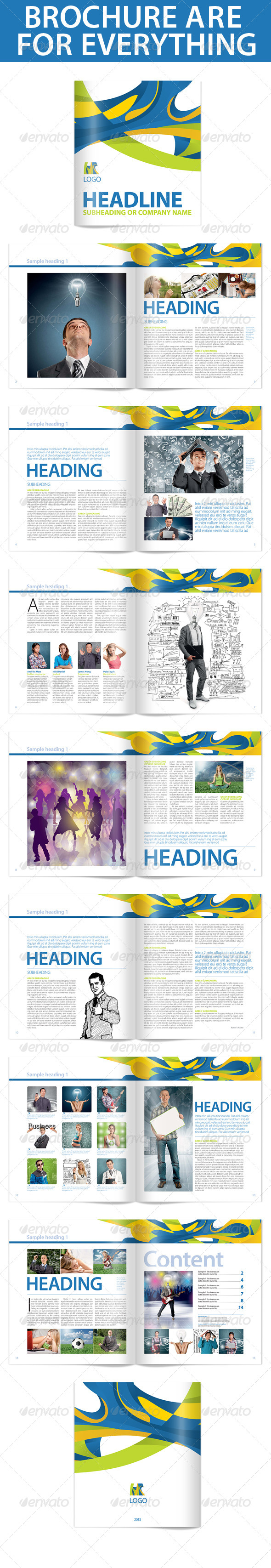 Brochure For Anything Template - Brochures Print Templates