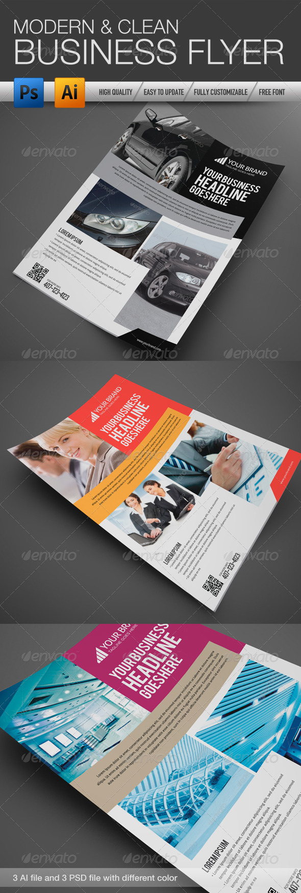 Professional and Clean Business flyer 3 - Corporate Flyers