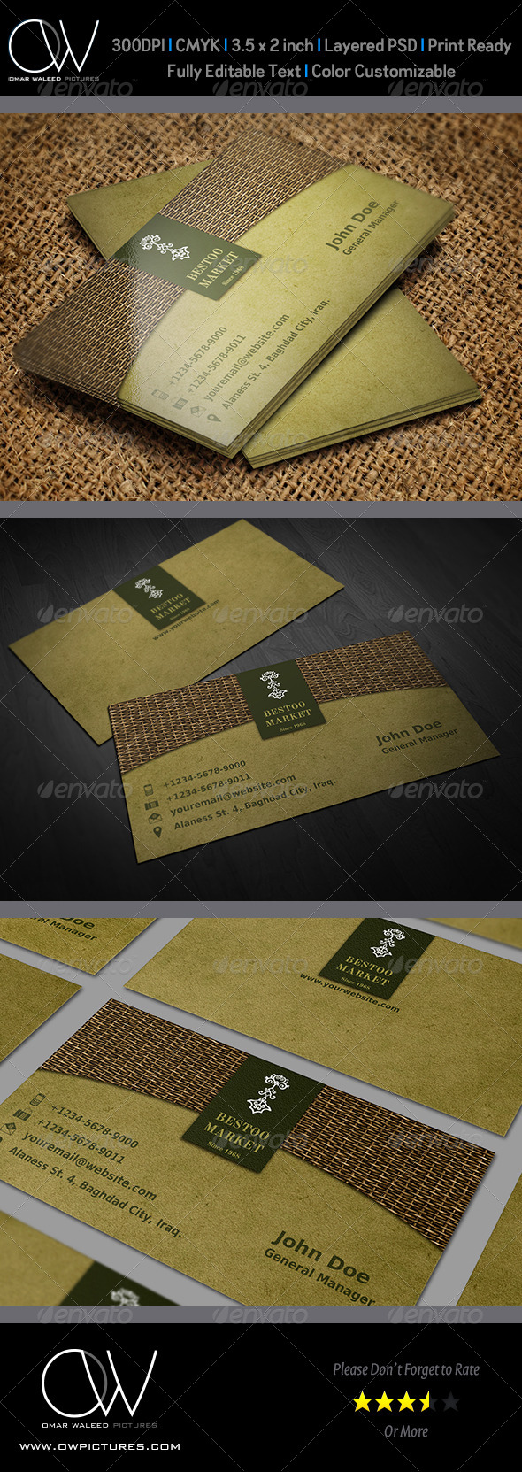 Shop / Market Business Card - Business Cards Print Templates