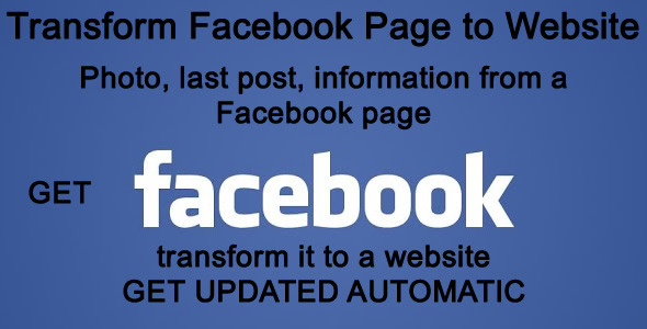 Transform Facebook Page to Website - CodeCanyon Item for Sale