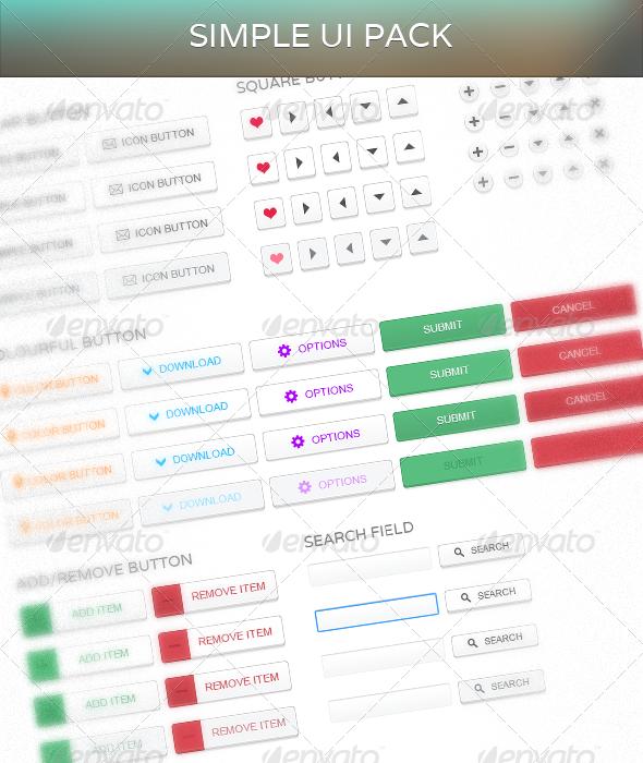 Simple UI - User Interfaces Web Elements