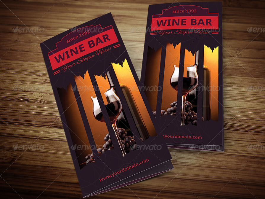 Wine Bar Trifold Menu Template By Erseldondar  Graphicriver
