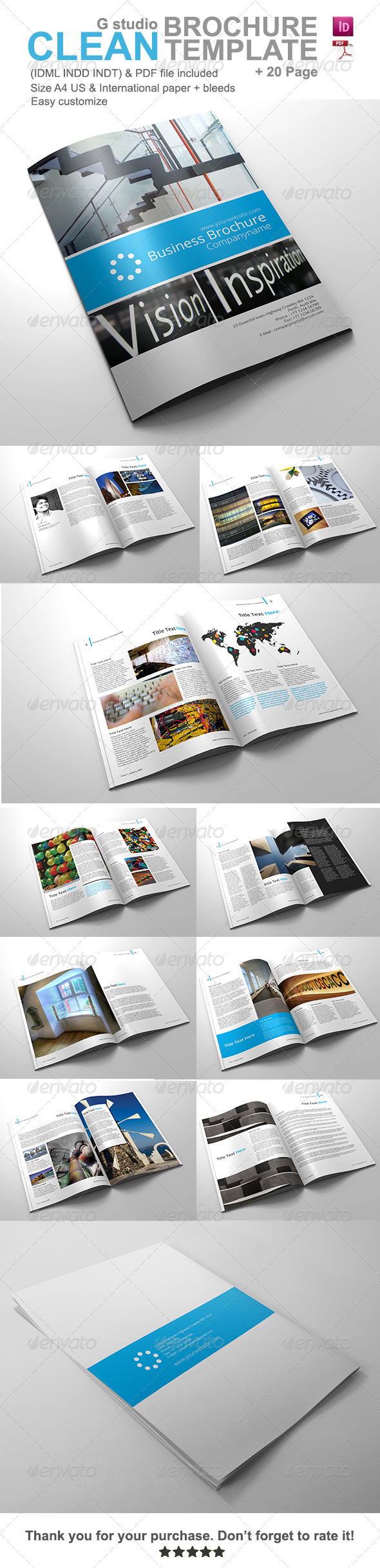 Gstudio Clean Brochure Template V2 - Corporate Brochures