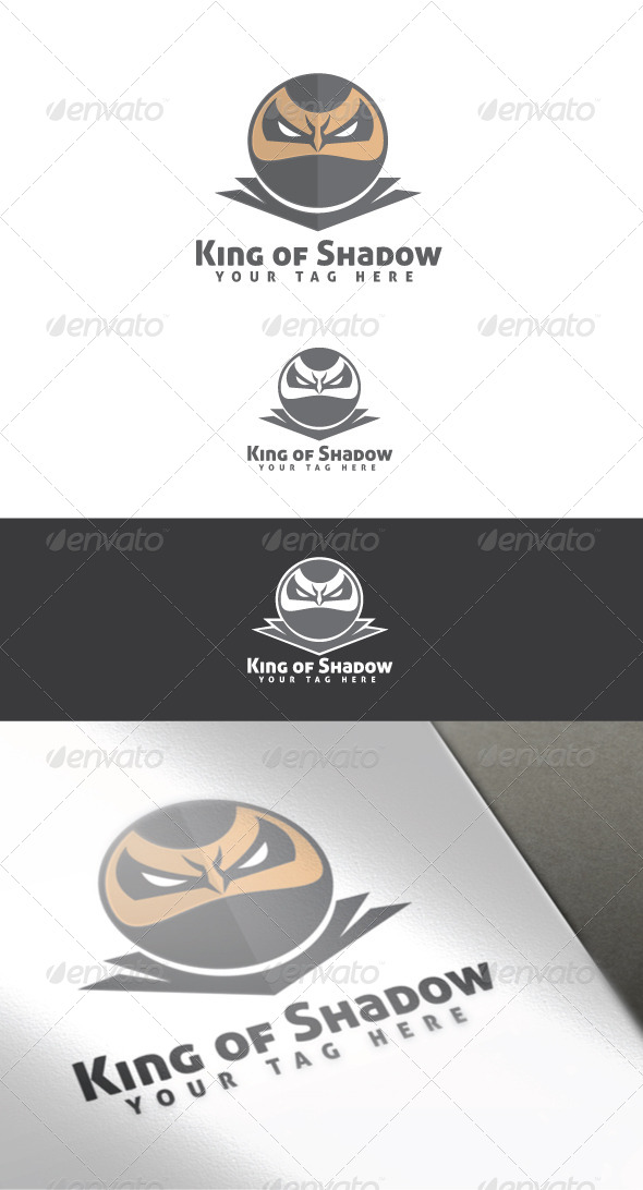King of Shadow Logo Template - Humans Logo Templates