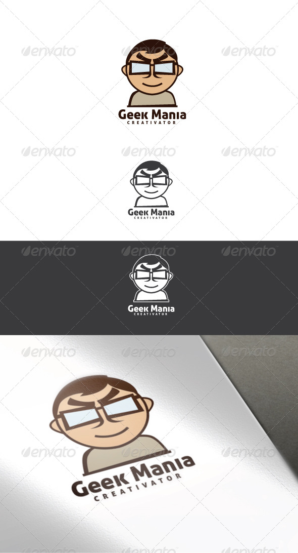 Geek Mania Logo Template - Humans Logo Templates