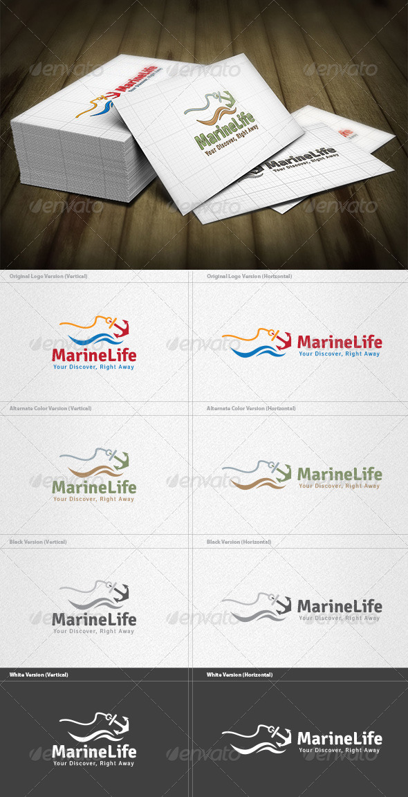 Marine Life Logo - Nature Logo Templates