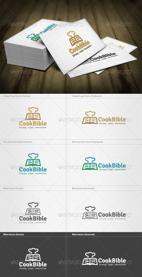 Cook Bible Logo - Food Logo Templates