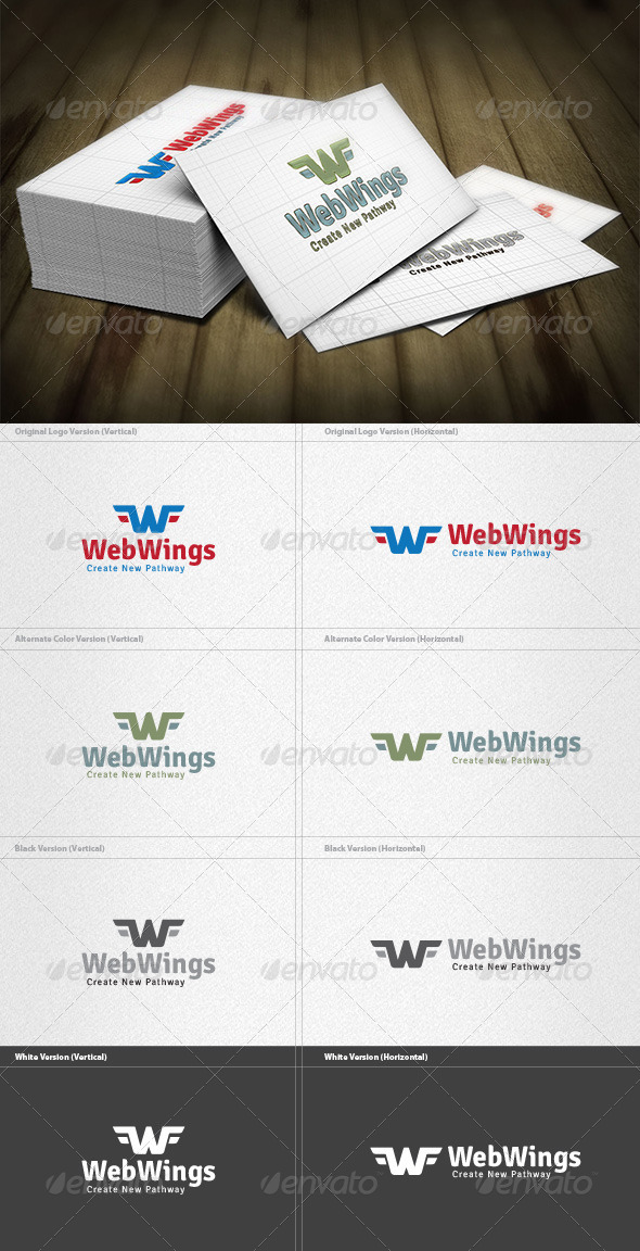 Web Wings Logo - Letters Logo Templates