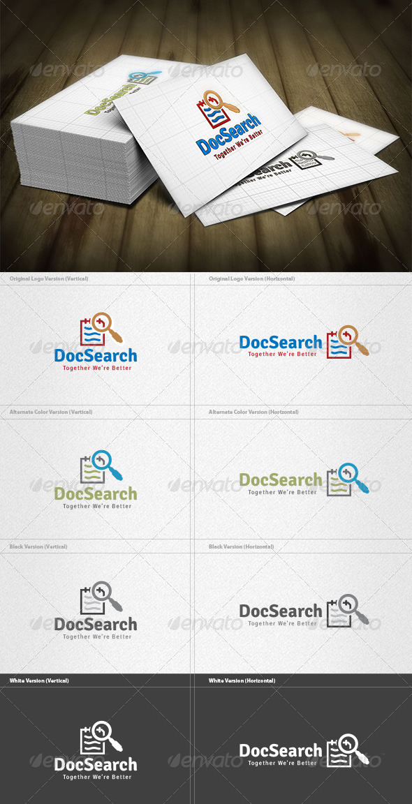 Document Search Logo - Objects Logo Templates
