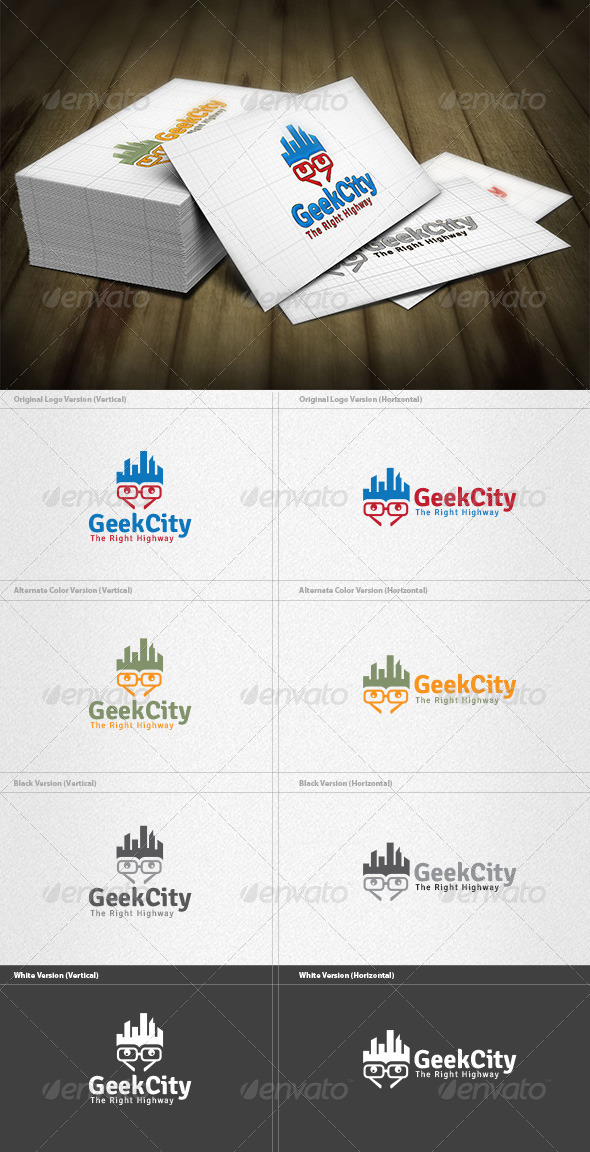 City Geek Logo - Buildings Logo Templates