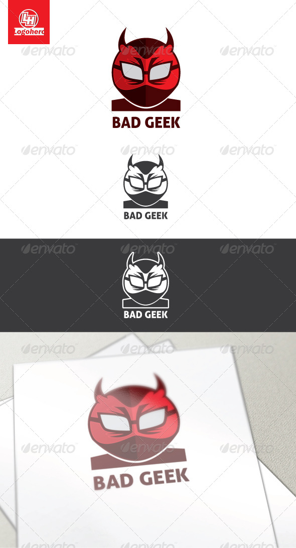 Bad Geek Logo Template - Humans Logo Templates