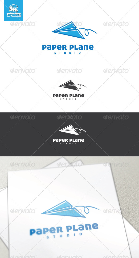 Paper Plane Logo Template - Objects Logo Templates