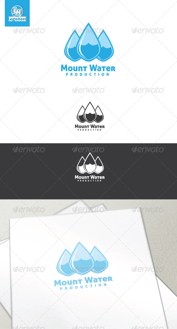 Mount Water Logo Template - Nature Logo Templates