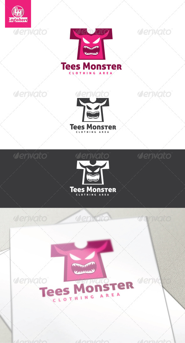Tees Monster Logo Template - Objects Logo Templates