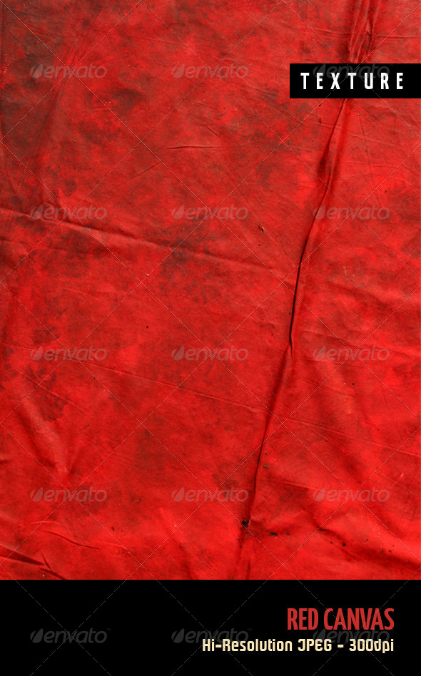 Red Canvas - Fabric Textures