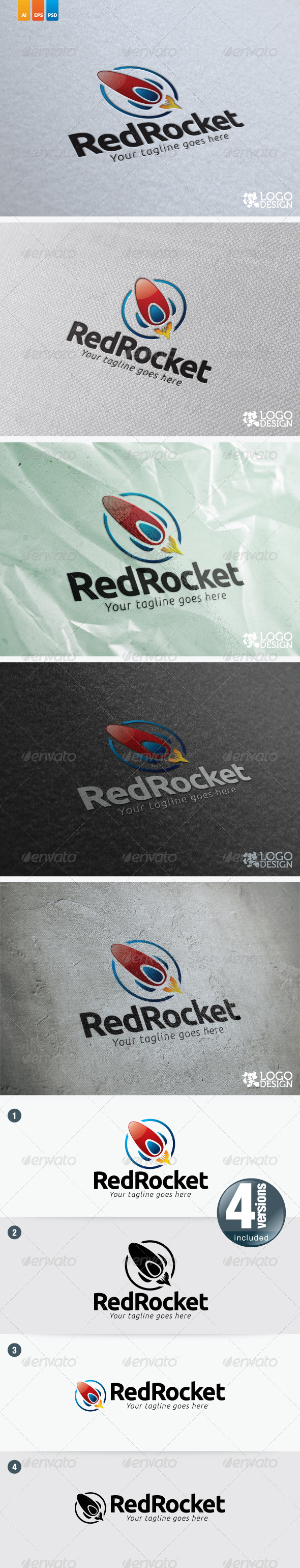 Red Rocket - Objects Logo Templates
